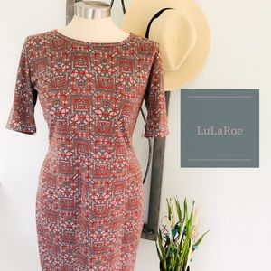 🆕 LuLaRoe Julia Aztec Fall Small Fitted Dress
